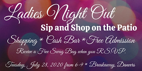 Ladies Night Out, Sip and Shop on the Patio at Breakaway tickets