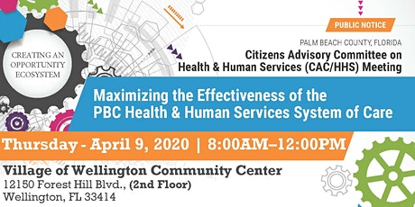 POSTPONED:Citizen Advisory Committee on Health & Human Services Meeting tickets