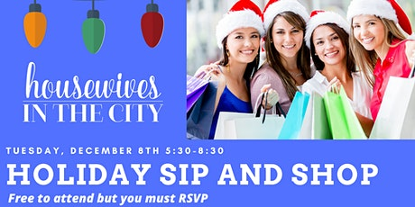 Holiday Sip and Shop tickets