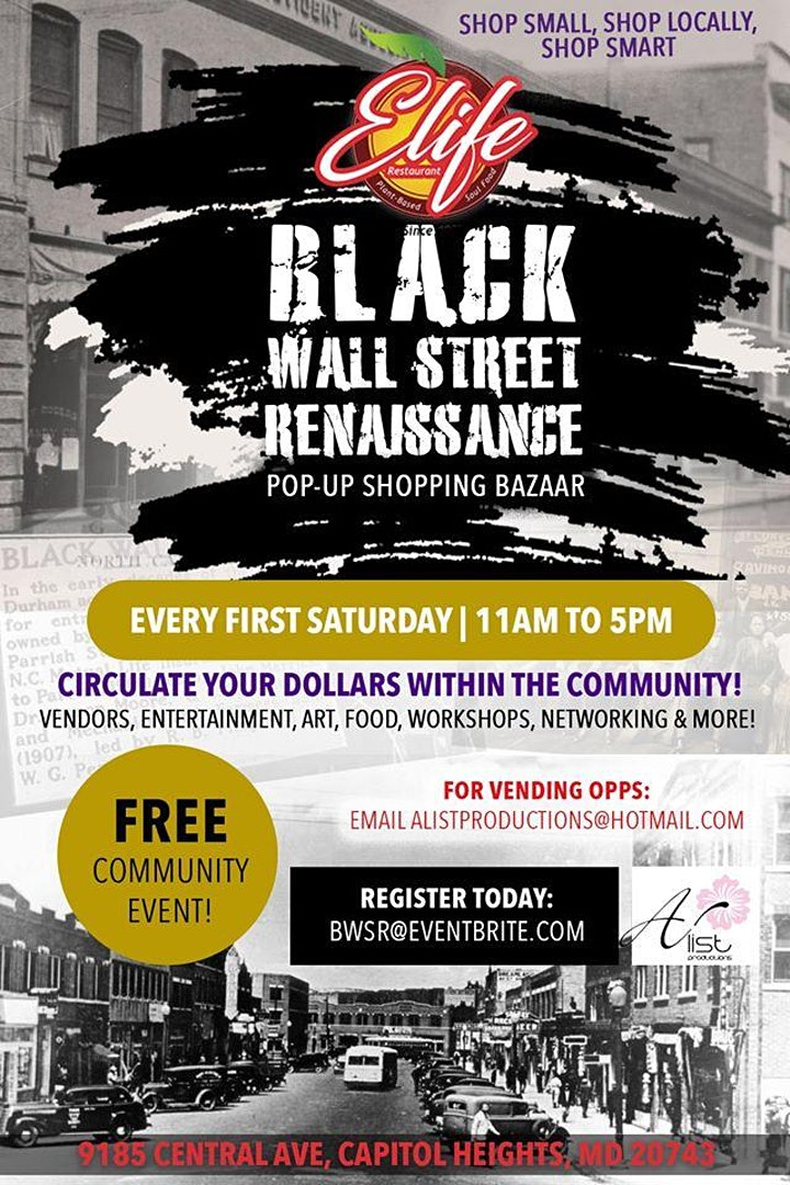 Black Wall Street Renaissance Pop-Up Shopping Bazaar image