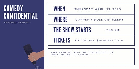 Comedy Confidential at Copper Fiddle Distillery tickets