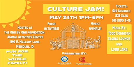 Culture Jam! Hosted by One by One Foundation and Global Lounge tickets