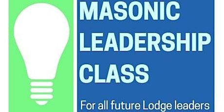 Masonic Leadership Training class tickets