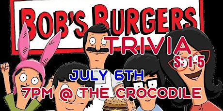 Bob's Burgers Trivia Night S:1-5 @ The Back Bar tickets