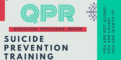 QPR Suicide Prevention Training for Adults April tickets