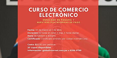 Curso: Comercio Electrónico, tiendas en línea y redes sociales en Panamá entradas