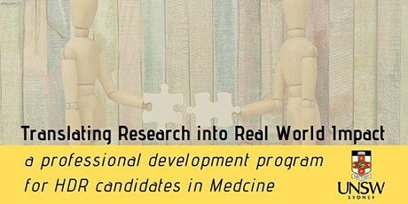 Webinar – Translating Research Into Real World Impact tickets