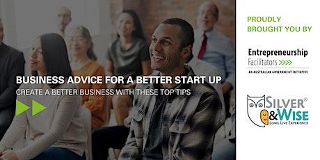 Webinar: Business advice for a better start-up tickets
