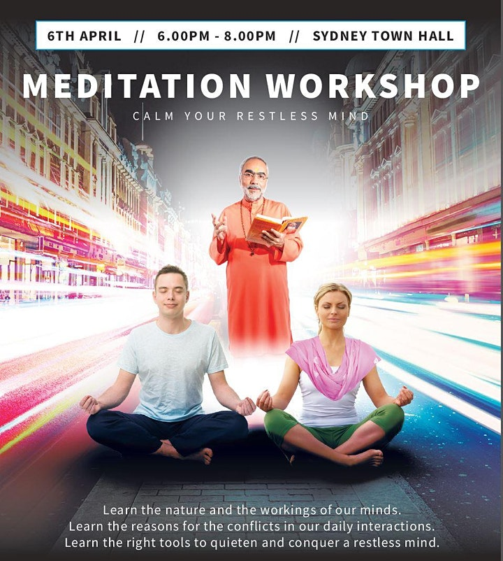 Meditation Workshop  @ Sydney Town Hall  (EVENT POSTPONED) image