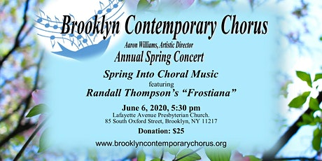 "Spring Into Choral Music! Featuring Randall Thompson's ""Frostiana"" tickets"