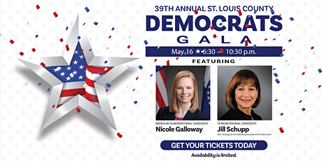 39th Annual St. Louis County Democrats Gala tickets