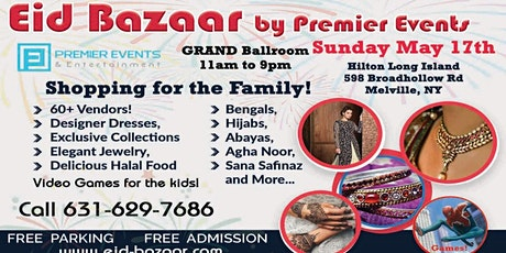 Long Island Eid Bazaar at the Hilton Hotel tickets