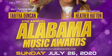 6th Annual Alabama Music Awards tickets