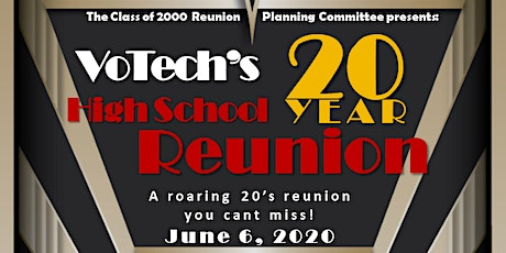 20 Year Reunion for Votech High School c/o 2000 tickets