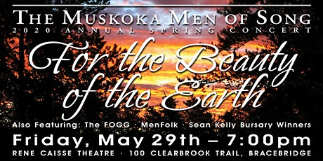 "Muskoka Men of Song-Spring Concert ""For the Beauty of the Earth"" tickets"