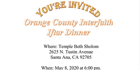 Orange County Interfaith Dinner tickets