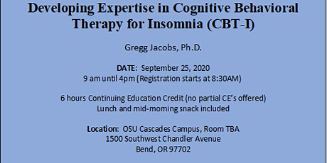 Developing Expertise in Cognitive Behavioral Therapy for Insomnia (CBT-I) tickets