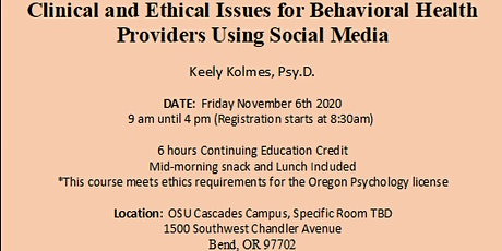 Clinical and Ethical Issues for Clinicans Using Social Media tickets