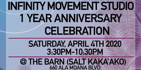Infinity Movement Studio 1 Year Anniversary Celebration tickets