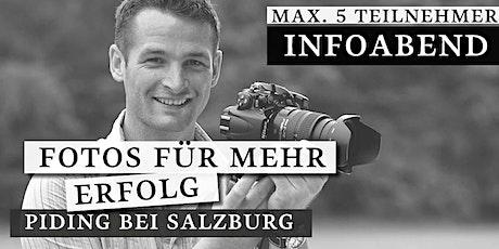 Infoabend: Fotos zu mehr Erfolg | Fotograf in Salzburg Tickets