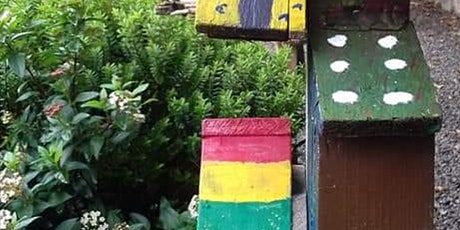Recycled Garden Art, Wildlife Habitat Boxes and Pizza tickets