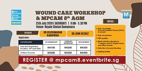 Wound Care Workshop & MPCAM 8th Annual General Meeting (9 am - 5.30 pm) tickets