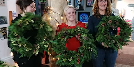 Christmas Wreath Making from natural materials and Festive Refreshments tickets