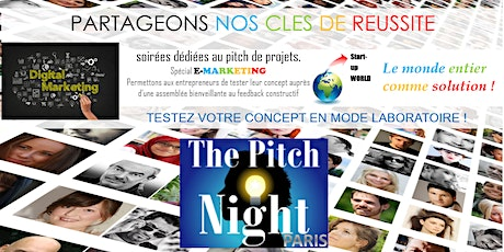 "Pitch night Paris spécial ""TravelTech"" --- ANNULE --- tickets"