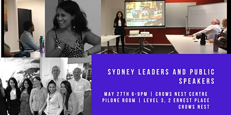 Sydney Leaders and Public Speakers Practice Evening and Workshop- 27th May 2020 tickets