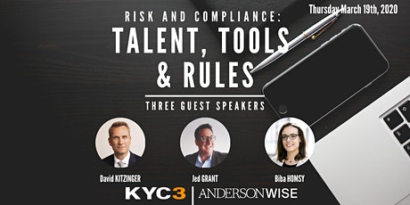Risk and compliance: talent, tools & rules tickets