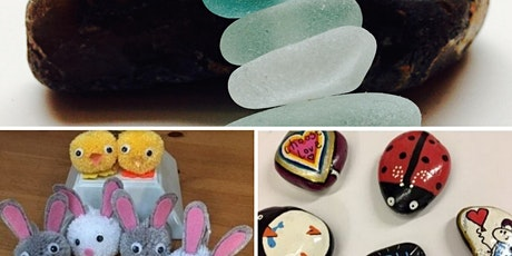 Crafternoon - seaglass jewellery, pom pom making & rock painting tickets