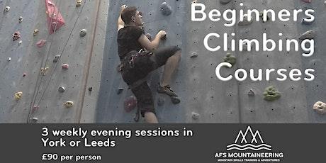 Beginners Indoor Climbing - 15, 22, 29th October tickets