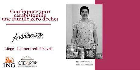 Conférence Zéro Carabistouille, une famille zéro déchet billets