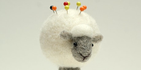 Needle Felted Sheep Pin Cushion with Jo Gardiner tickets