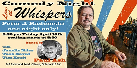 Comedy Night Live At Whispers tickets