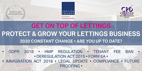 Protect and grow your lettings business (OCT) - Hamilton Fraser Academy tickets