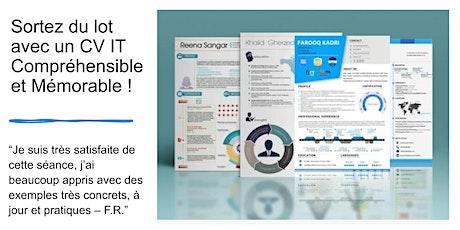 Formation en ligne: Un CV IT créatif et compréhensible, oui c'est possible ! :-) billets