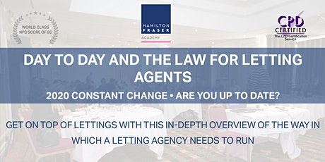 Day to day and the law for lettings agents (Nov) - Hamilton Fraser Academy  tickets