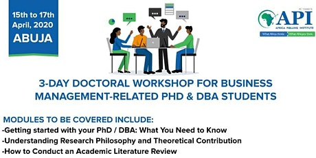 DOCTORAL WORKSHOP FOR PhD & DBA STUDENTS tickets
