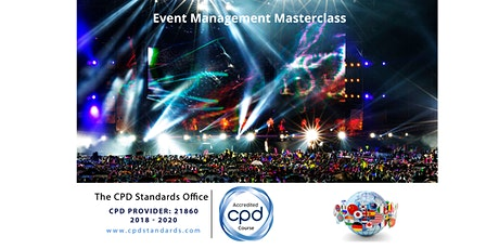 Event Management Masterclass - central London tickets