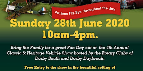 Carsington  Classic  & Heritage Vehicle Show. Free entry  for the Public tickets
