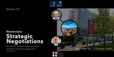 Masterclass: Strategic Negotiations- Two Day Event