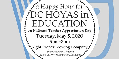 Happy Hour for DC Hoyas in Education 2020 tickets