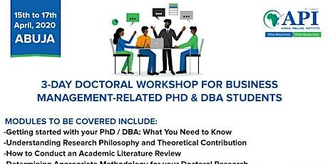 Doctoral Workshop tickets