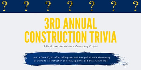 3rd Annual Construction Trivia Event  for Homeless Veterans ASPE Chapter 32 tickets