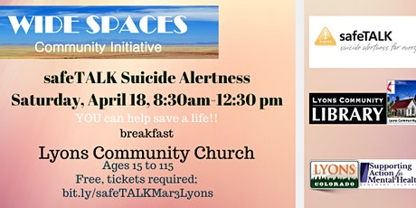 safeTALK suicide alertness training tickets