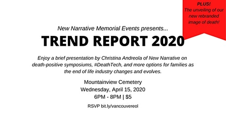 Vancouver End of Life Industry Meetup #2: TREND REPORT 2020 tickets