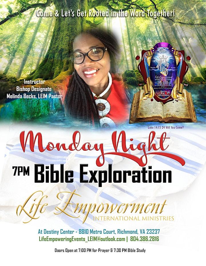 Monday Night Prayer & Bible Exploration image