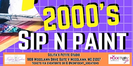 99's and 2000's Sip n Paint tickets