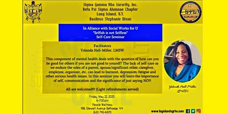 Selfish is Not Selfless: Self Care Seminar tickets